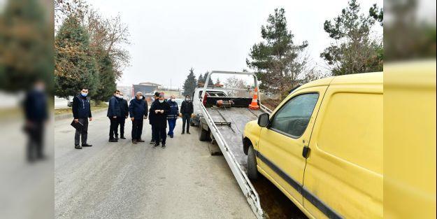 Çınar: '112 hurda araç yerinden kaldırıldı'