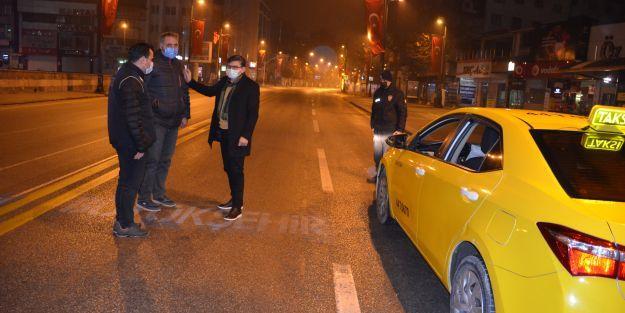 Malatya Emniyet Müdürü Dağdeviren, bindiği taksiyle ekipleri denetledi
