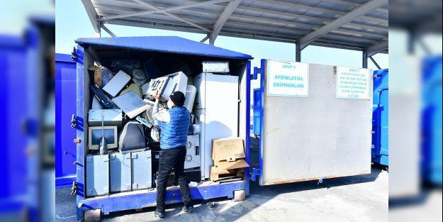'Yok Artık' projesinde 3 bin 244 kilo atık elektronik eşya toplandı