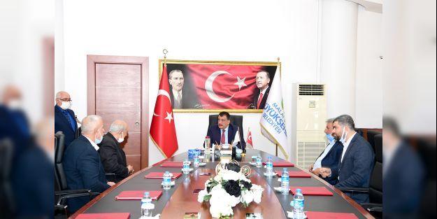 Arapgir Muhtarlar Derneği yöneticileri Gürkan'ı ziyaret etti