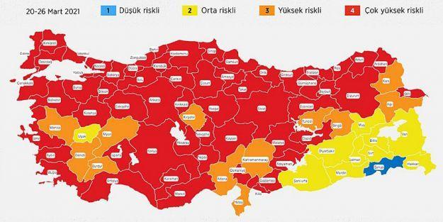 Malatya 'Kırmızı' Oldu..  Hafta Sonu Yasağı Yeniden..