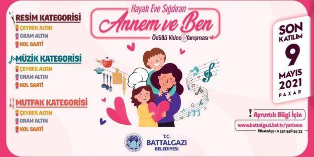 Battalgazi'de Anneler Günü'ne Özel Videolu Yarışma