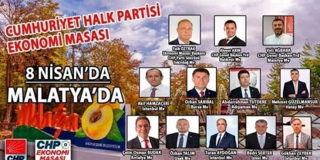 CHP EKONOMİ MASASI OTOBÜSÜ MALATYA'DA