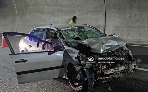 Erkenek Tünelinde kaza: 1 Ölü, 1 Yaralı