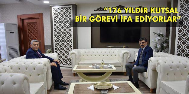 Sadıkoğlu,  Malatya İl Emniyet Müdürü Ercan Dağdeviren'i ziyaret etti.