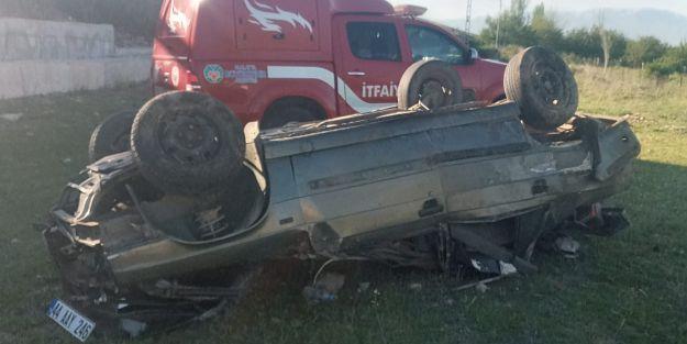Otomobil takla attı, sürücü hayatını kaybetti