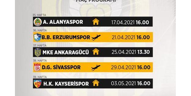 Yeni Malatyaspor'un 35-39. Hafta Maç saatleri Belli oldu