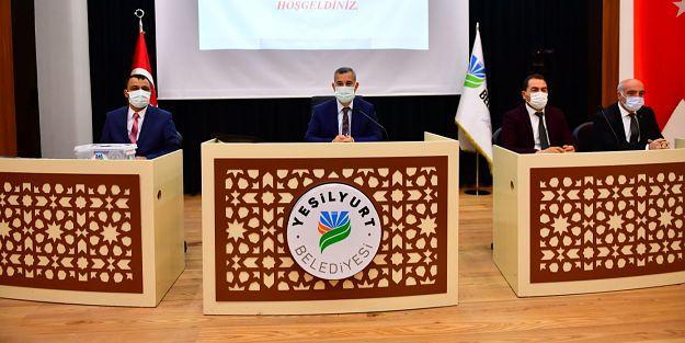 Yeşilyurt Belediye Meclisi Komisyon Üyeleri Belirlendi