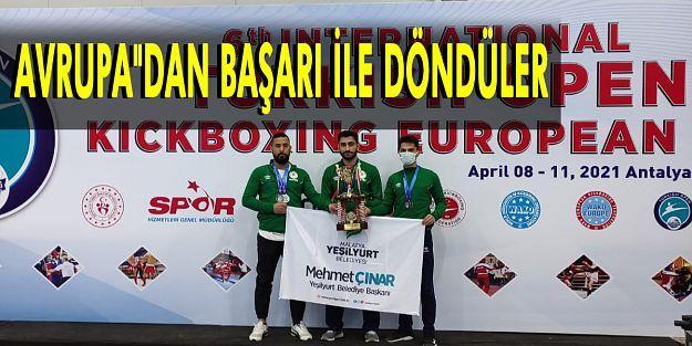Yeşilyurt Belediyespor Kick-Boks Takımı, Avrupa'dan Başarılı Döndü