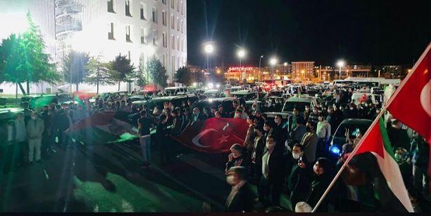 Malatyalılardan 'Mescid-i Aksa'ya destek konvoyu