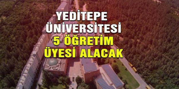 Yeditepe Üniversitesi 5 Öğretim Üyesi alıyor