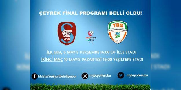 Yeşilyurt Belediyespor, Ofspor ile karşılaşacak