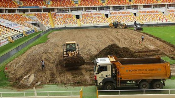 Malatya Stadı Zemini Yenileniyor
