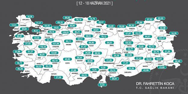 Malatya'da 100 bin'de 50 vaka görüldü