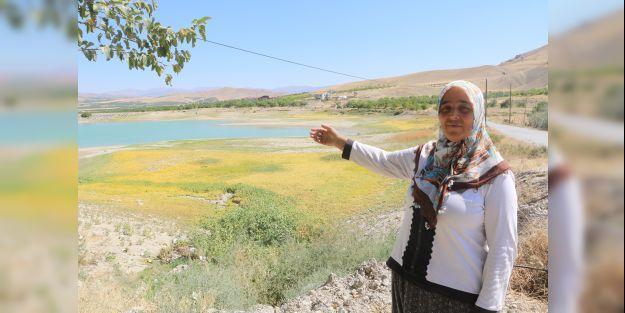 Göçmen kuşların mekanı olan göleti kuraklık vurdu