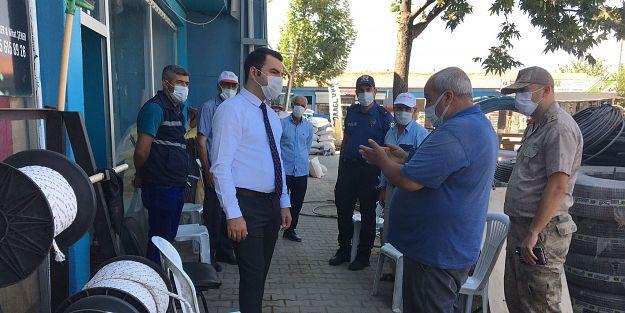 Kale Kaymakamı Abdulselam Bıçak'tan esnaf ziyareti
