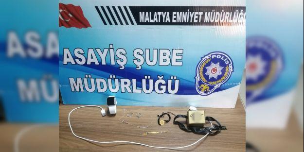 Malatya'da ziynet eşyası çalan hırsız yakalandı