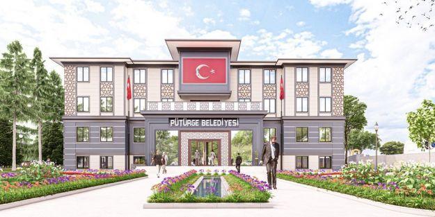 Pütürge'ye yeni belediye binası