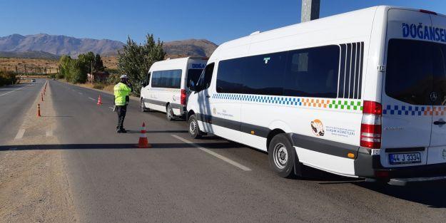 Doğanşehir'de trafik denetimi gerçekleştirildi