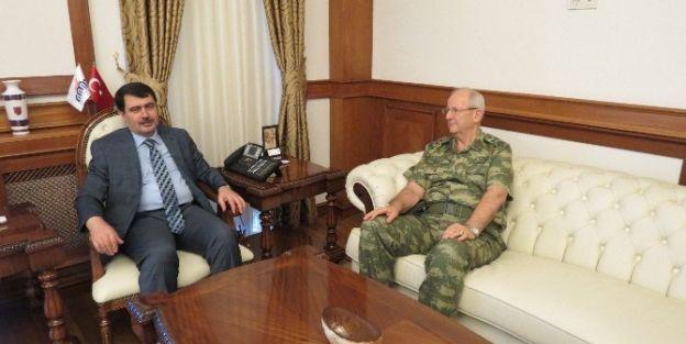 2. Ordu Komutanının İlk Ziyareti Malatya Valiliğine