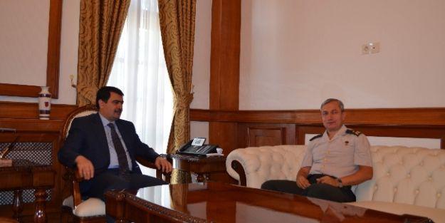2. Ordu Kurmay Yarbaşkanı Tuğgeneral Halil Erkek'ten, Vali Vasip Şahin'e Veda Ziyareti