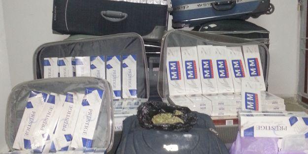 9 bin 160 paket kaçak sigara ele geçirild