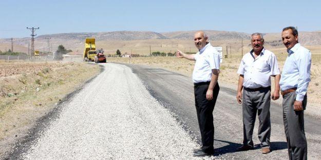 9 köyün faydalandığı yol asfaltlandı