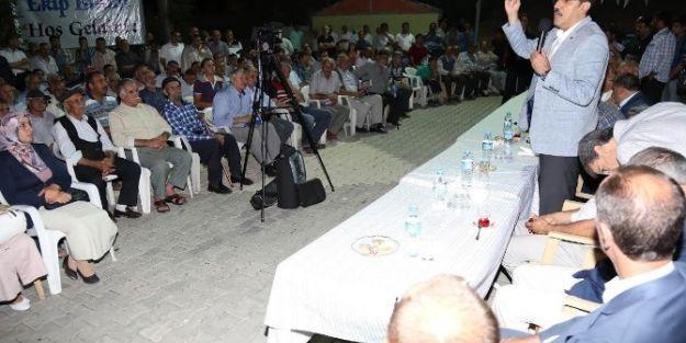 Ak Parti Heyeti, Taştepe'de Seçim Çalışması Yaptı