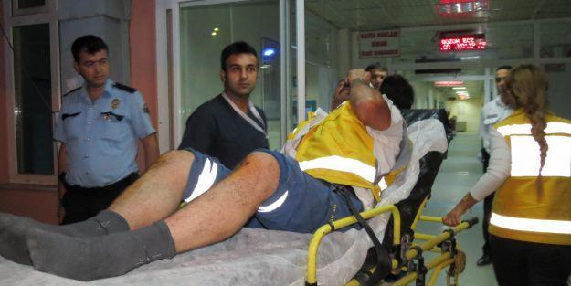 Ambulans şoförü hastanelik edildi