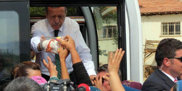 Başbakan Erdoğan'a Malatya'da Sevgi Seli