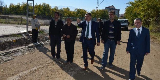 Başkan Selahattin Gürkan, Çalışmaları Yerinde İnceledi
