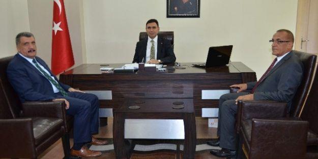 Başkan Selahattin Gürkan, Kaymakam Vedat Yılmaz'ı Ziyaret Etti