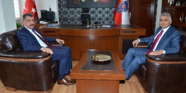 Başkan Selahattin Gürkan'dan İl Emniyet Müdürü Ömer Urhal'a Ziyaret