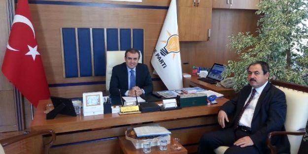 Başkan  Süleyman Eser, Mahir Ünal'ı Ziyaret Etti