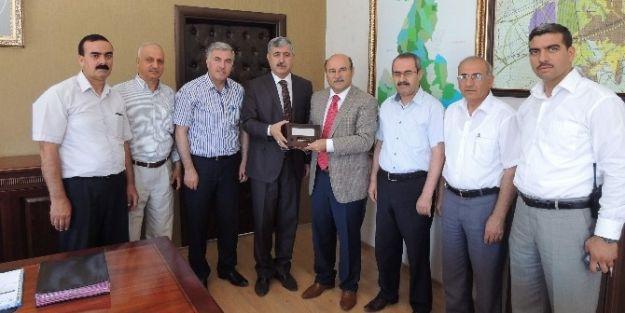 Bem-bir-sen Genel Başkanı Mürsel Turbay,  Başkan Uğur Polat'ı Ziyaret Etti