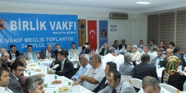 Birlik Vakfı Malatya Şubesi 3.meclis Toplantısı Yapıldı