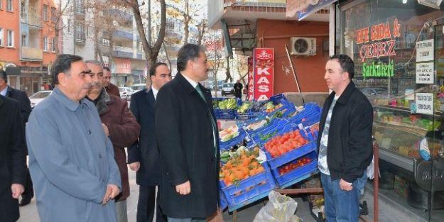 Çakır, Sivas Caddesi Esnafını Ziyaret Etti