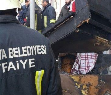 Çocuklar Ateş Yaktı, Evde Yangın Çıktı