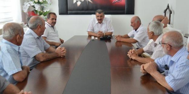 Eski Meclis Üyeleri, Başkan Gürkan'ı Ziyaret Etti