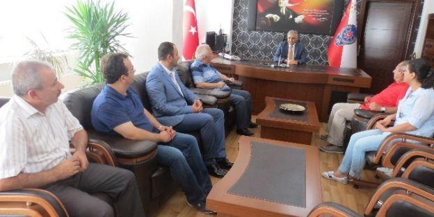 Gazeteciler Cemiyeti'nden Emniyet Müdürü Urhal'a Ziyaret
