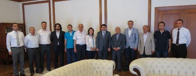 Gazeteciler Cemiyeti'nden Vali Şahin'e Ziyaret