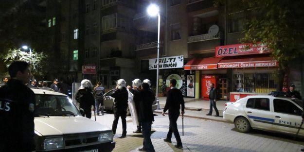 Gerginliğe Polis Müdahalesi