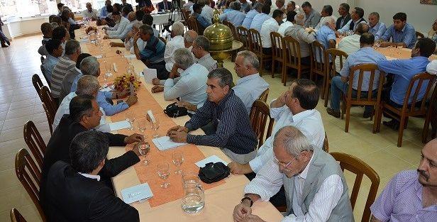 Gürkan, Muhtar  Ve Meclis Üyeleri İle Bir Araya Geldi