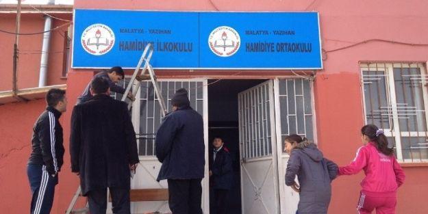 Hamidiye İlköğretim Kurumu'nda Onarım Çalışmaları Yapıldı