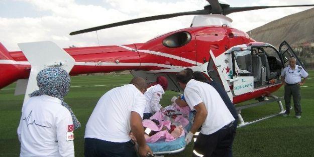 Helikopter Ambulans Darende'den Havalandı