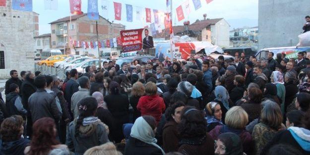 Hulisi Porgalı, Çavuşoğlu'nda Seçim Çalışması Yaptı