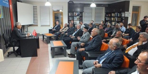 İl  Genel Meclisi Eski Başkanı Naci Şavata'dan Konferans