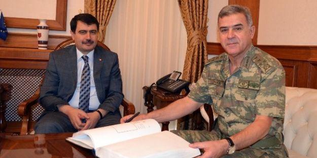 Jandarma Genel Komutanı Yörük, Malatya Valisi Şahin'i Ziyaret Etti