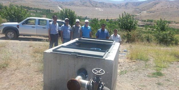 Kapıkaya'da 4 yıl sonra araziye ilk su verildi