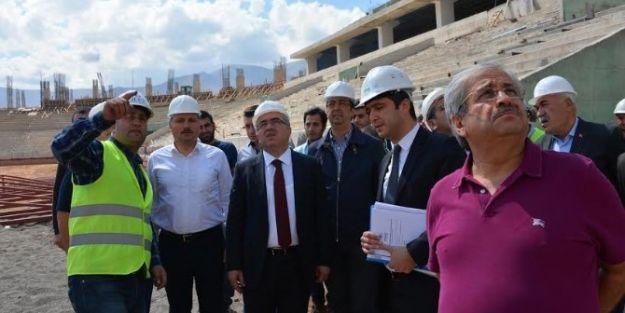 Malatya Arena Stadı'nda Çalışmalar Devam Ediyor
